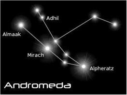 Andromeda constellation where physics 4 planet earth were conceived,